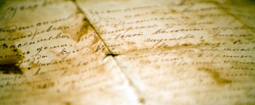 Gammalt brev på antikt papper