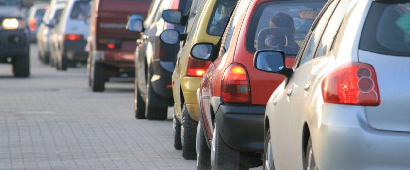 Bilar som står i kö