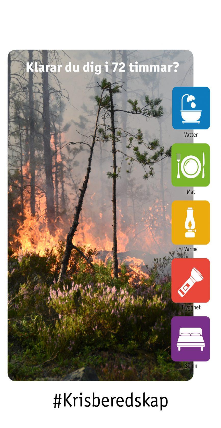 Skogsbrand, eld och rök #krisberedskap