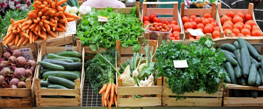 Torghandel - grönsaksstånd