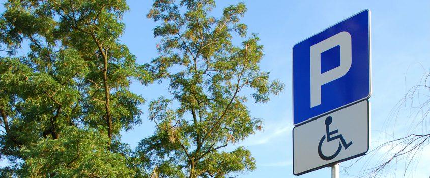 Parkeringsskylt för parkering för dem med tillstånd