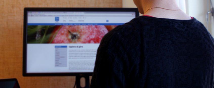 Viktor Andersson, webbutvecklare och kommunikatör arbetar med den nya webbplatsen