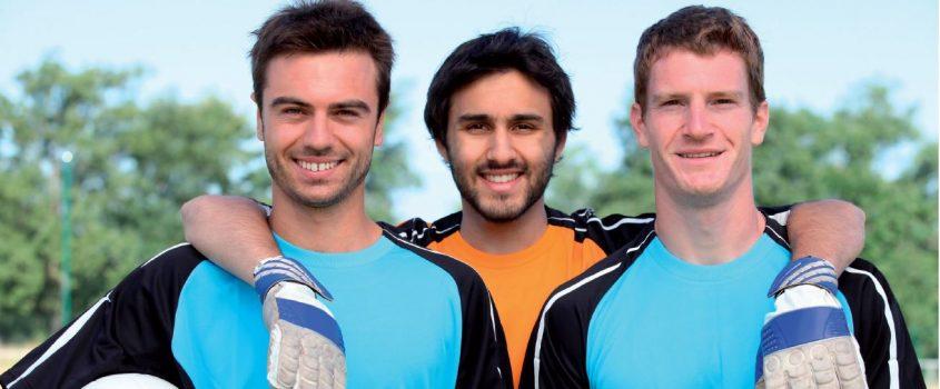Tre fotbollskillar