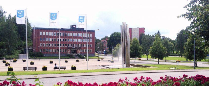 Fontän och Flens stadshus
