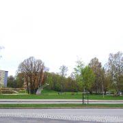 Parken vid Flens tågstation