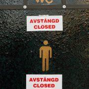 Avstängd offentlig toalett