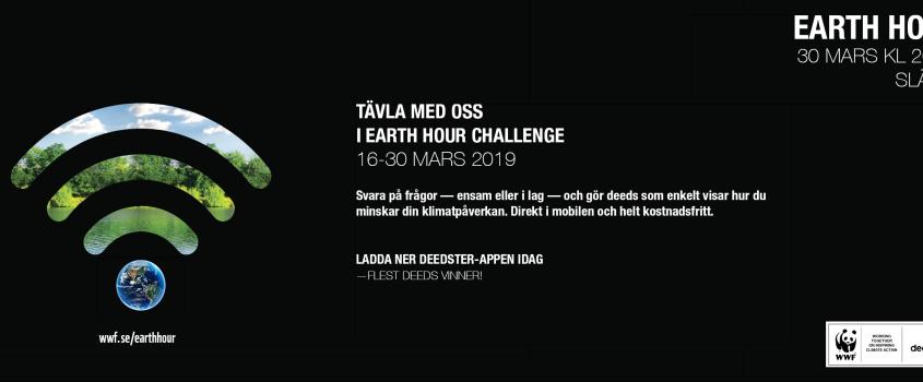 Utmana dig själv, grannen eller kollegan för planeten - Earth hour