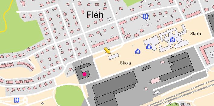 Karta över Stenhammarskolan
