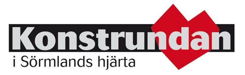 Konstrundans logotyp med texten: Konstrunda i Sörmlands hjärta