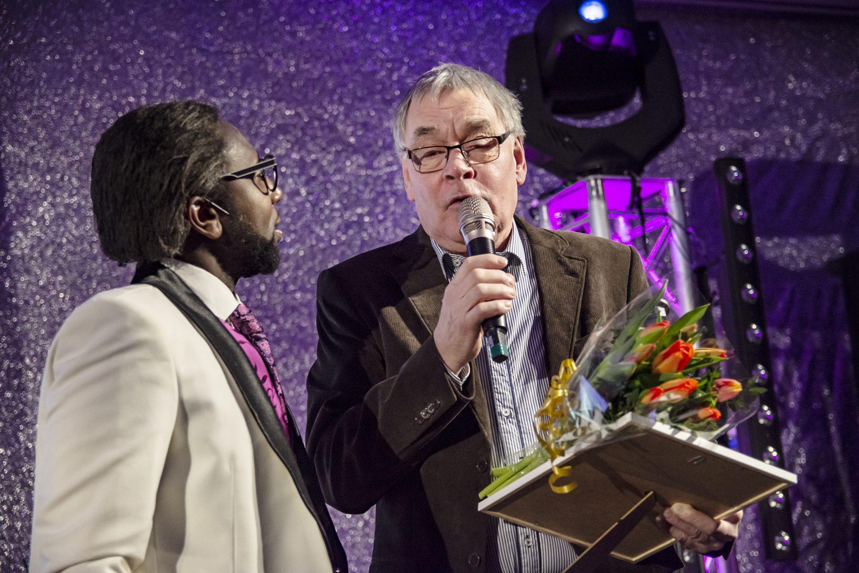 Juryns Hederspris delades ut till Reine Johansson, Flens Fridrottssällskap.