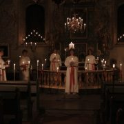 Lucia och tärnor i Bettna kyrka