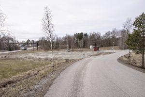 vy över planerad tankstation sett från riksväg 57