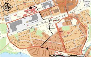 Karta Vandrande skolbuss Salsta
